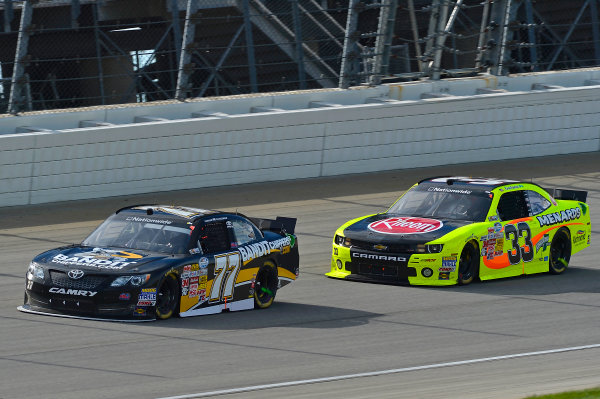 September 13-14, 2013, Joliet, Illinois  USA Parker Kligerman and Kevin Harvick cars © 2013, Brian Czobat LAT Photo USA