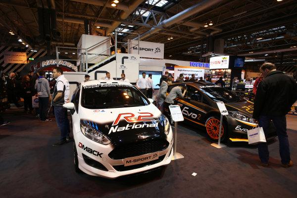 Autosport International Exhibition. National Exhibition Centre, Birmingham, UK. Saturday 14 January 2017. The M-Sport stand. World Copyright: Mike Hoyer/EbreyLAT Photographic. Ref: MDH17636