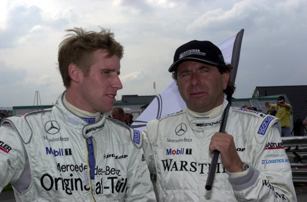 2000 DTM ChampionshipSachsenring, Germany. 6th August 2000. Rd 5/10.Peter Dumbreck and Klaus Ludwig - portrait.World - hardwick / LAT Photographic