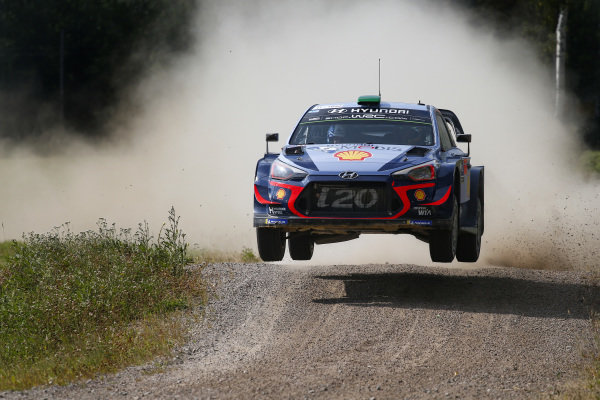 Hayden Paddon is a flying Kiwi on Rally Finland