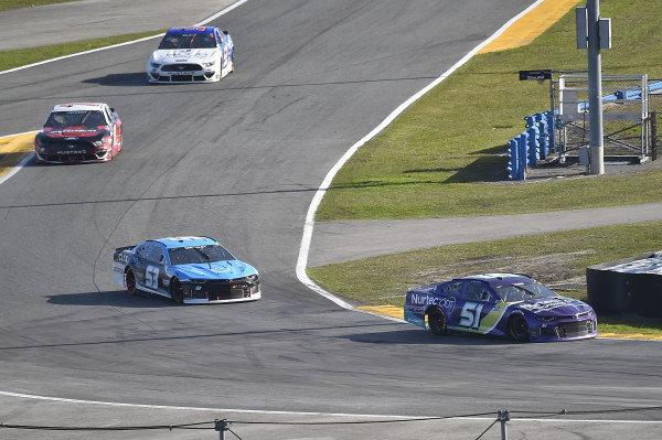 #51: Cody Ware, Petty Ware Racing, Chevrolet Camaro, #53: Joey Gase, Rick Ware Racing, Ford Mustang, #52: Josh Bilicki, Rick Ware Racing, Ford Mustang