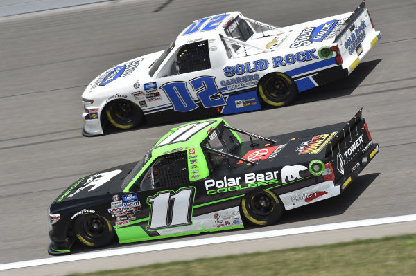 #11: Spencer Davis, Spencer Davis Motorsports, Polar Bear Coolers Toyota Tundra, #02: Tate Fogleman, Young's Motorsports, Solid Rock Carriers Chevrolet Silverado
