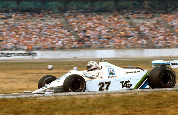1979 German Grand Prix.Hockenheim, Germany.27-29 July 1979.Alan Jones (Williams FW07 Ford) 1st position. Ref-79 GER 09.World Copyright - LAT Photographic