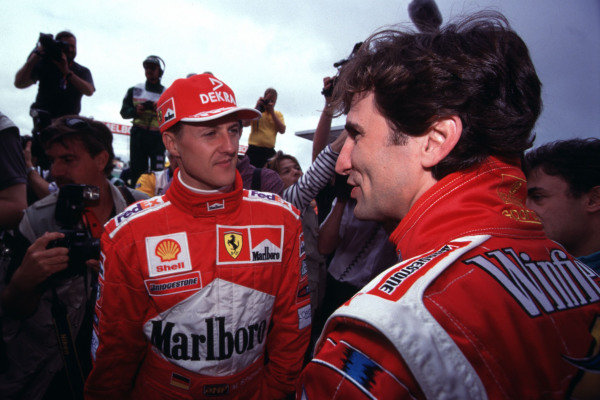 1999 Australian Grand Prix.Albert Park, Melbourne, Australia. 5-7 March 1999.Michael Schumacher (Ferrari) and Alex Zanardi (Williams Supertec).World Copyright - Photo 4/LAT Photographic