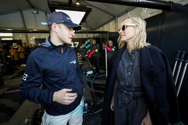 Actress Diane Kruger, with Stoffel Vandoorne (BEL), HWA Racelab